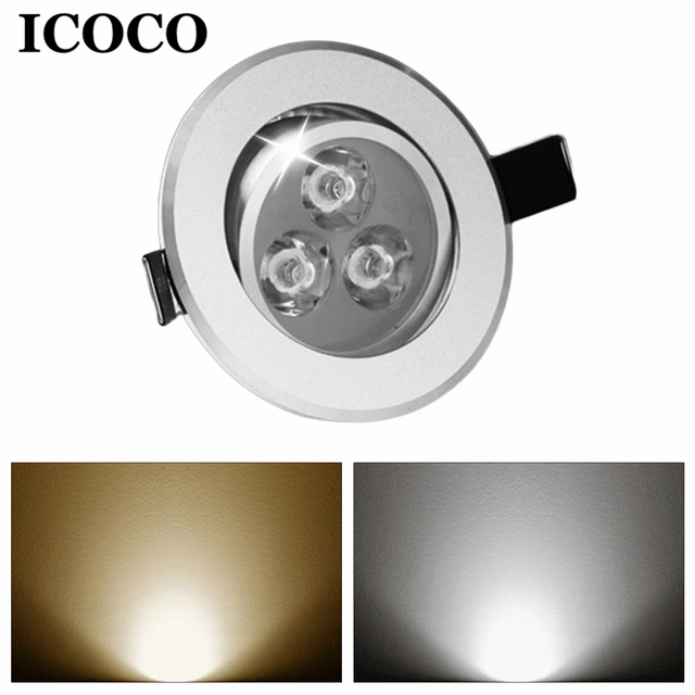 ICOCO 3W/5W LED Downlight Recessed Indoor Ceiling Light Round Background Wall Cabinet