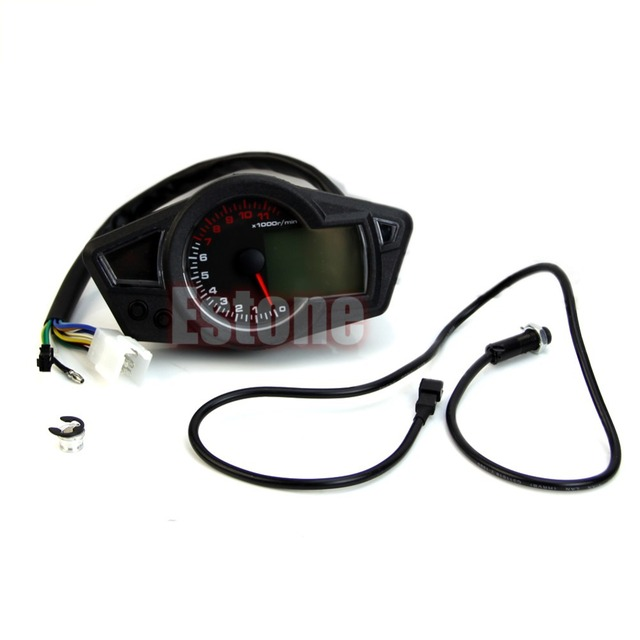 "B86"" Hot Newest Universal LCD Digital Motorcycle Speedometer Odometer Tachometer Gauge New"