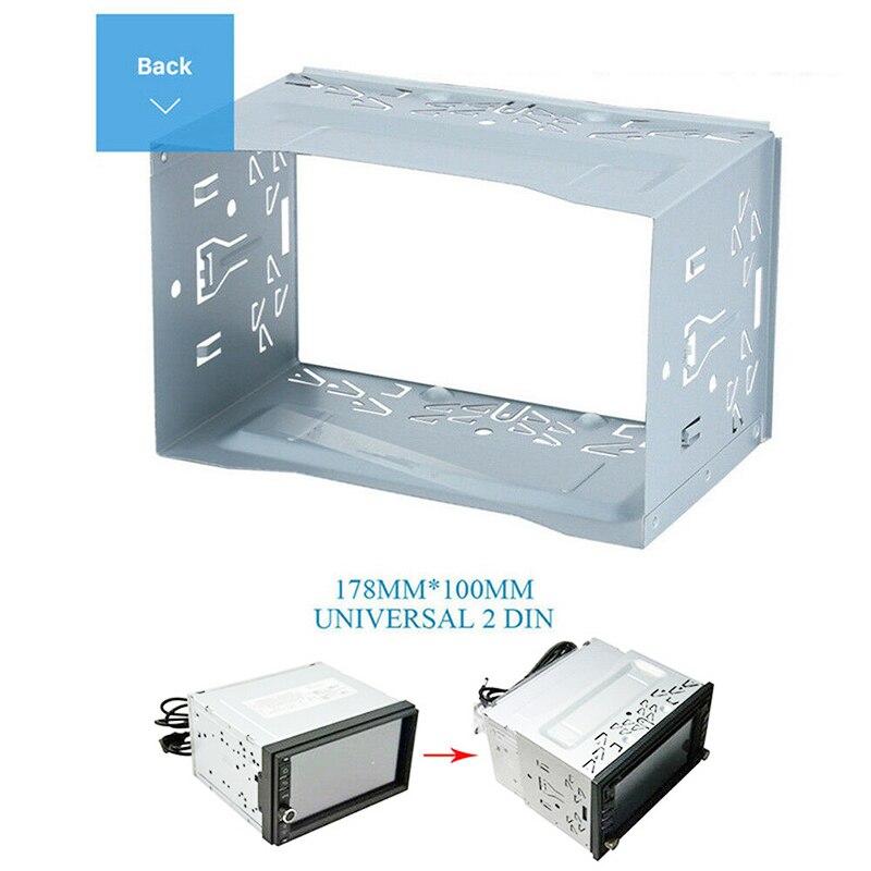 Montage Rahmen Silber 2Din Installieren Dash DVD-Player Neueste Nützlich