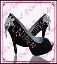 Aidocrystal sexy high heels sommer schuhe handarbeit klassische schwarze fischmaul strass heels schuhe frau