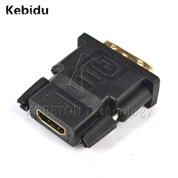 Kebidu Hot Sale Grosir 3 pcs DVI 24 + 1 Pria untuk HDMI Perempuan Converter HDMI ke DVI adapter Dukungan 1080 P untuk HDTV untuk PS3 PS4