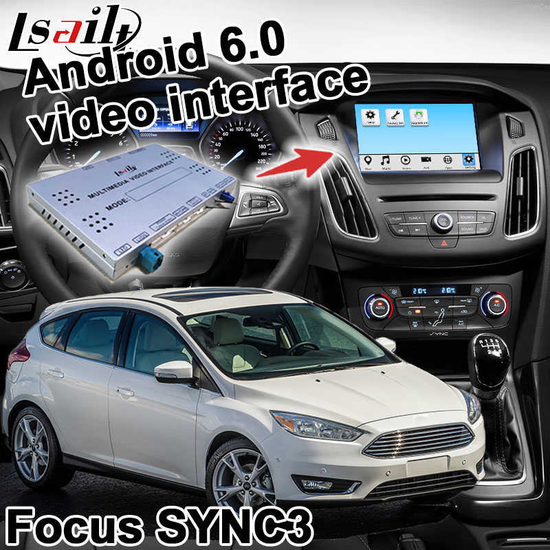 US $467 5 15% OFF|Android navigation box for Ford Focus Fiesta Kuga etc  video interface box SYNC 3 Carplay mirror link waze youtube yandex-in  Vehicle