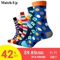 Match-Up Men's colorful combed cotton <font><b>socks</b></font> wedding gift <font><b>socks</b></font> (6pairs/lot )