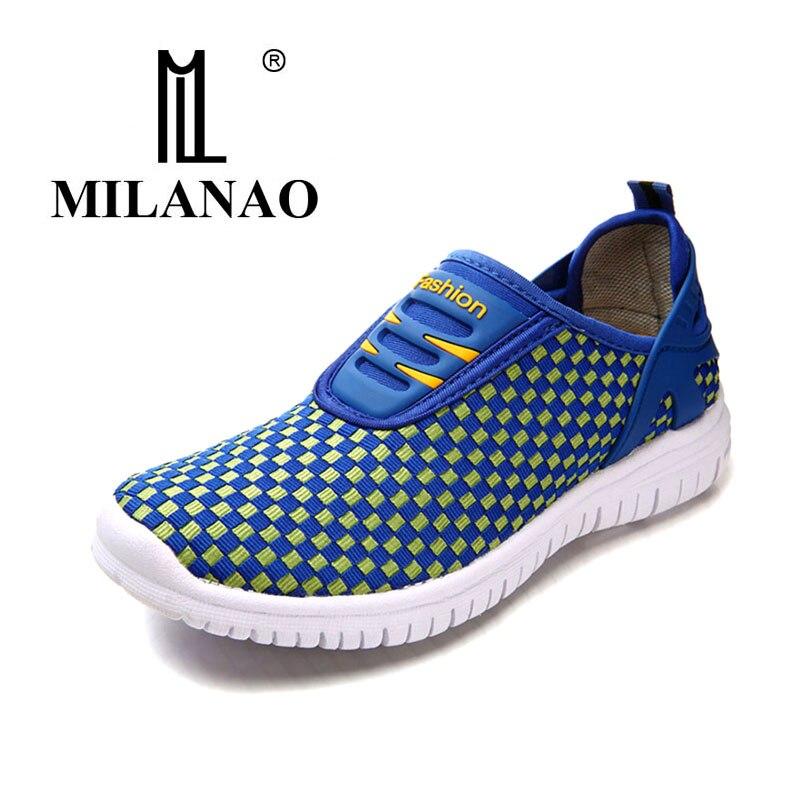 MILANAO נעלי אור נשי רשת לנשימה 2016 גברים ונשים חדשים ליידי Walk חיצוני ספורט מאמני נעלי ריצה נוחות