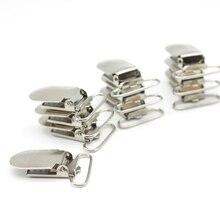 2017 metal topo moda suspensórios clipe 1 7 7 mm chumbo livre suspender pacifier clips fita artesanato ferramenta de costura 50 pçs/lote