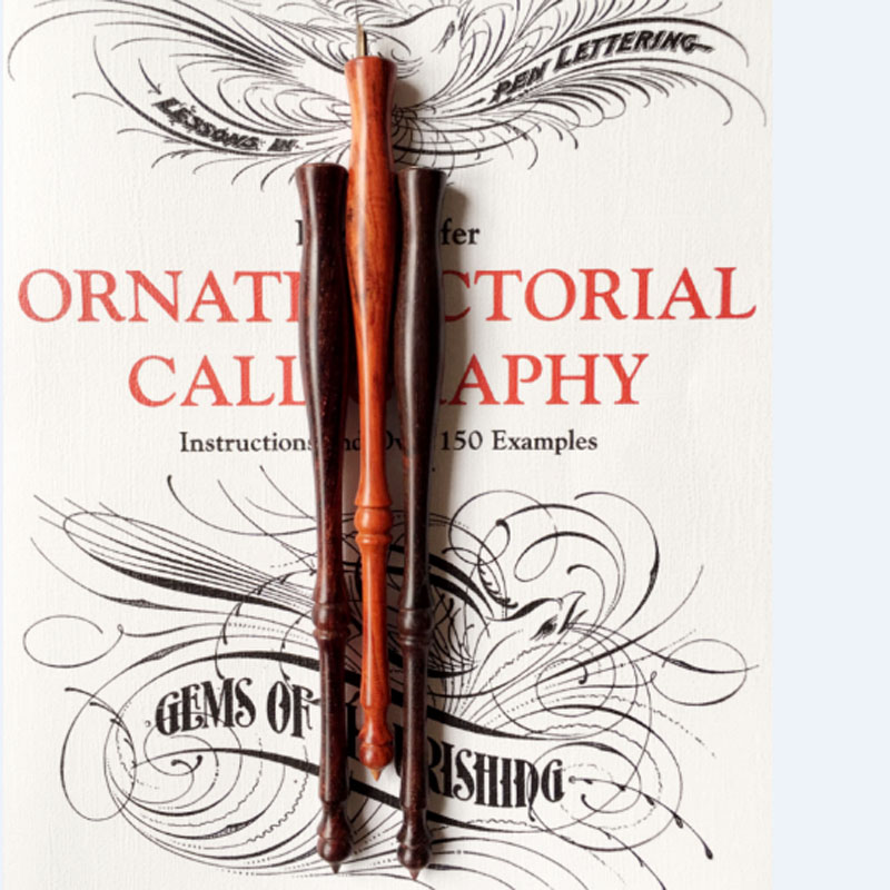 New English Professional Calligraphy Roosewood Straight Dip Pen Holder Italy Gothic Dip Pen