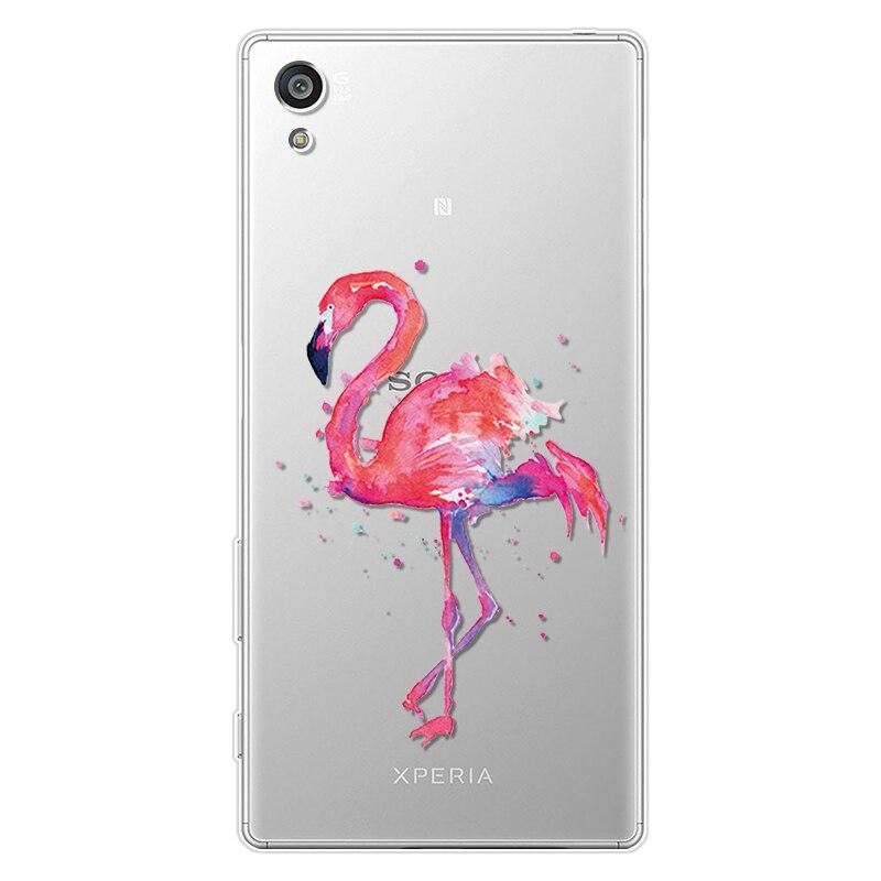 Lato Flamingo pokrywa dla Sony Xperia 10 Z5 kompaktowy XZ3 XZ1 kompaktowy XZ XA2 Plus XA1 Ultra Plus XA X L2 L1 miękkiego silikonu TPU przypadku