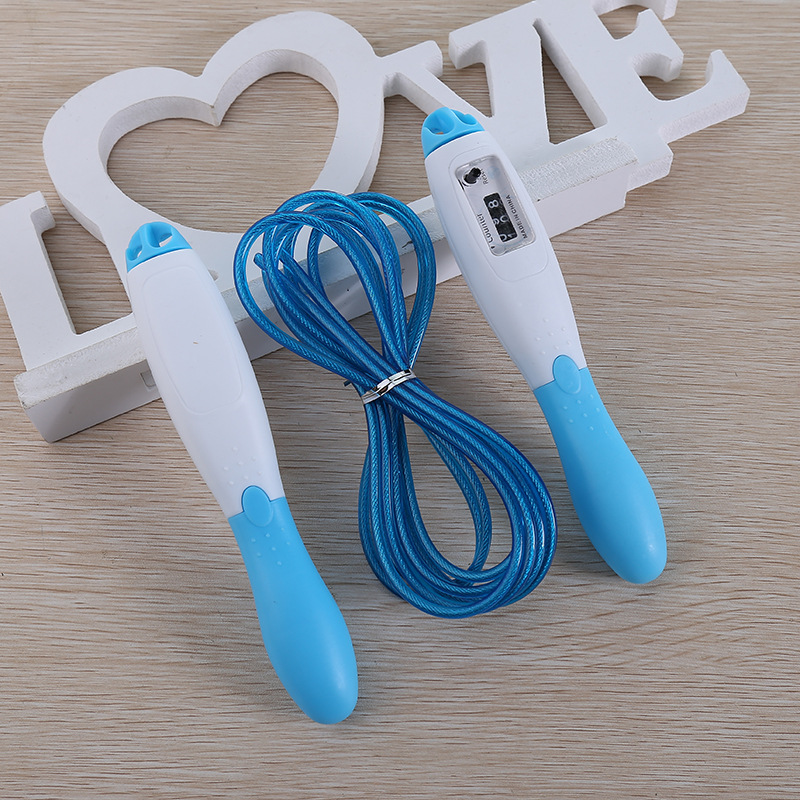 New Jump Rope Professional Electronic Counting Skipping Aerobics Fitness Equipment Game with Skipping Rope F