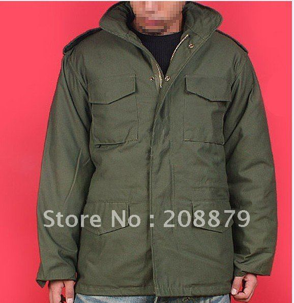 ems 45% Painstaking Mens Coat,military Jacket M65 Mens Classic Windproof Thermal Jacket,fashion Jacket Balck Green