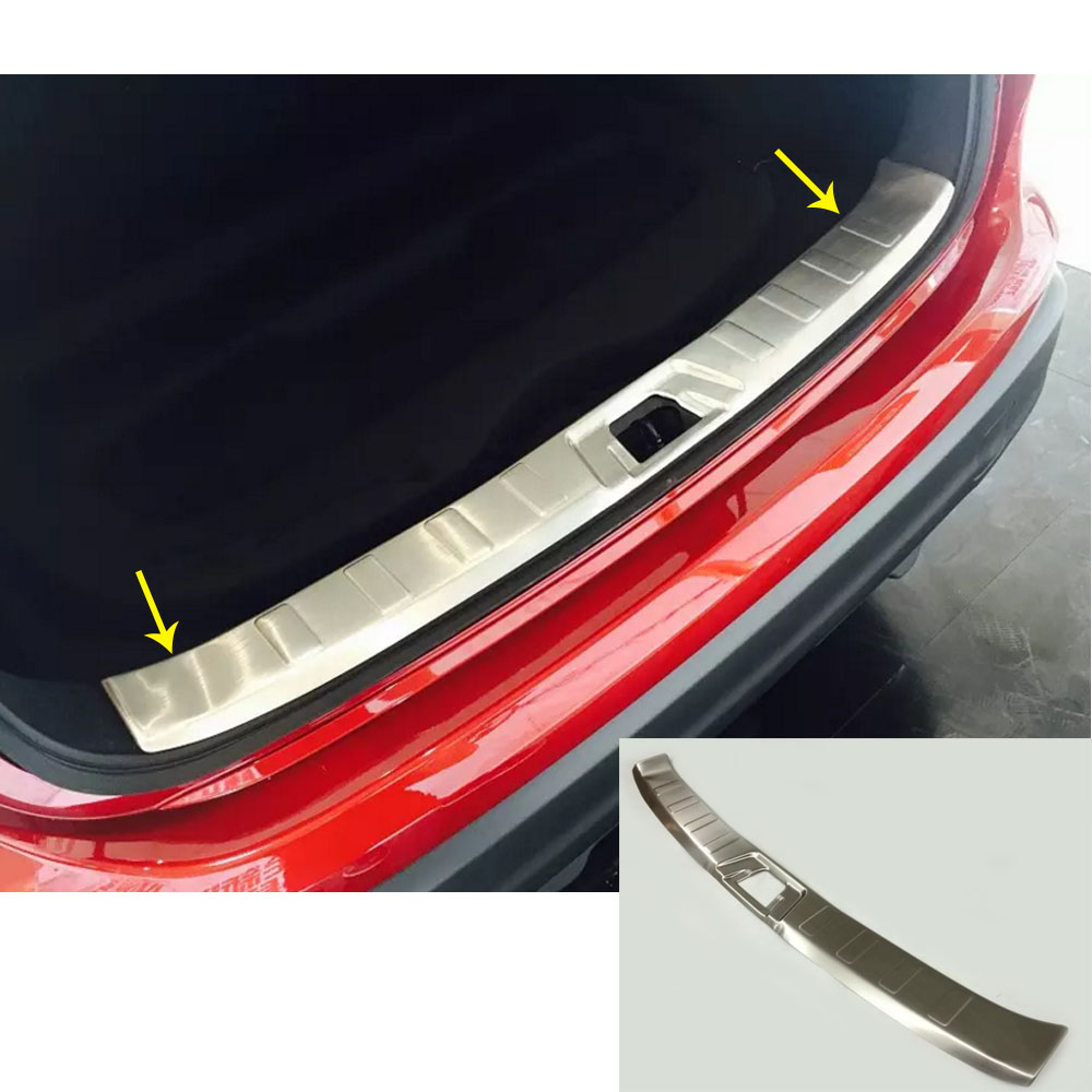 Car Stainless Steel back Rear Pedal Door Scuff Plate Frame Internal inside Threshold 1pcs For Nissan Qashqai 2016 2017 2018 for nissan teana 2013 2014 2015 car cover stainless steel outside rear bumper strip trim plate lamp frame threshold pedal 1pcs
