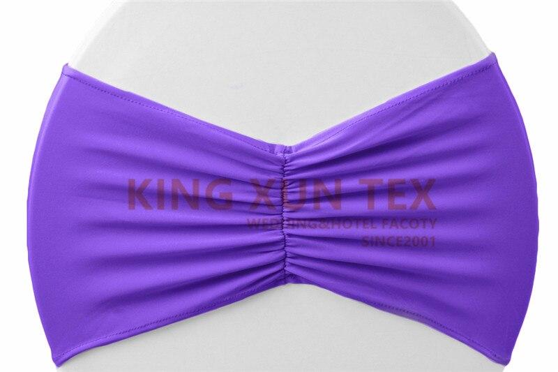 Задний гофрированный лайкровый стул полоса стрейч Подвязка из спандекса для стула подходит для свадьбы украшение для стула - Цвет: purple