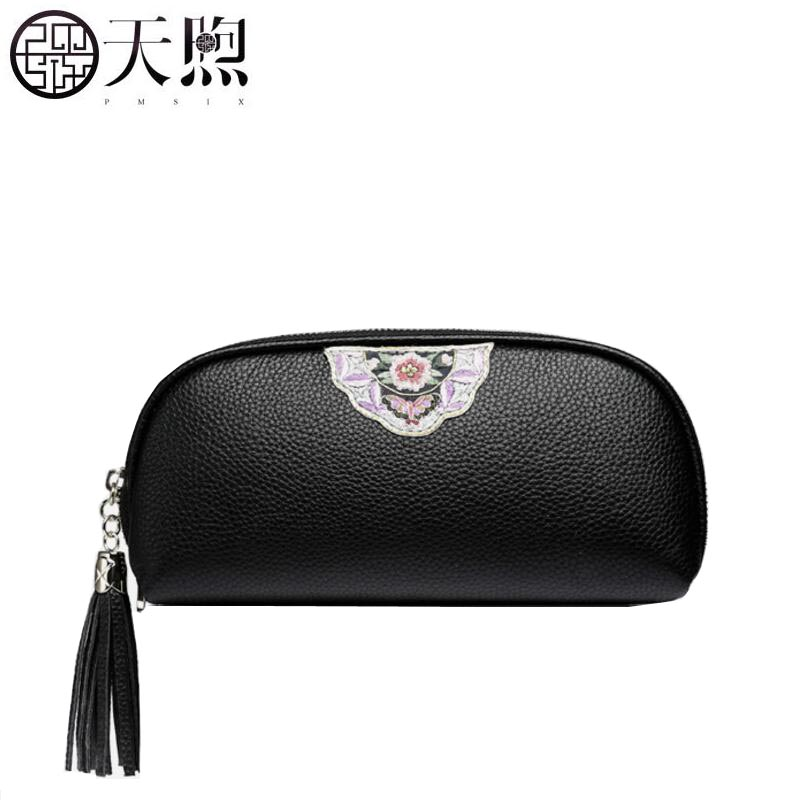 Famous brand top quality Cow Leather women bag 2018 new large-capacity leather clutch Zipper long leather wallet ladies bag
