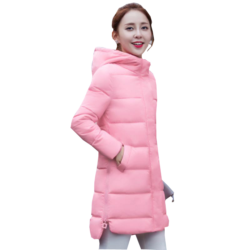 autumn winter new medium long jacket women coat slim hooded down cotton-padded female jacket casual plus size outerwear kp0767 бинокль bresser scala 3x27 cb 64656
