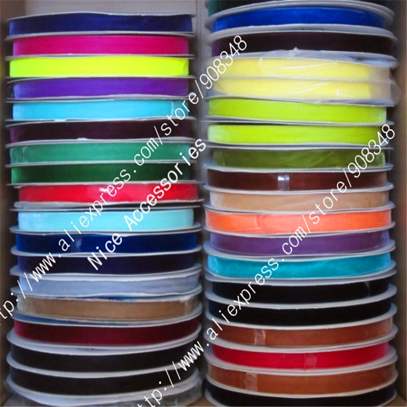 5 8 15mm None Elastic nylon single faced velvet ribbon velour webbing headband Hair band accessories