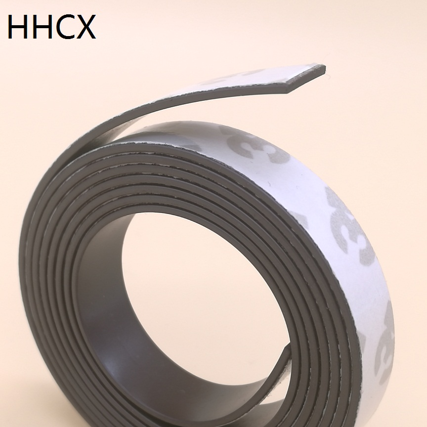 1 Meter/lot Anisotropy Rubber Magnet 10*1 Mm With 3M Self Adhesive Flexible Magnetic Strip Magnet Tape Width 10mm Thickness 1mm