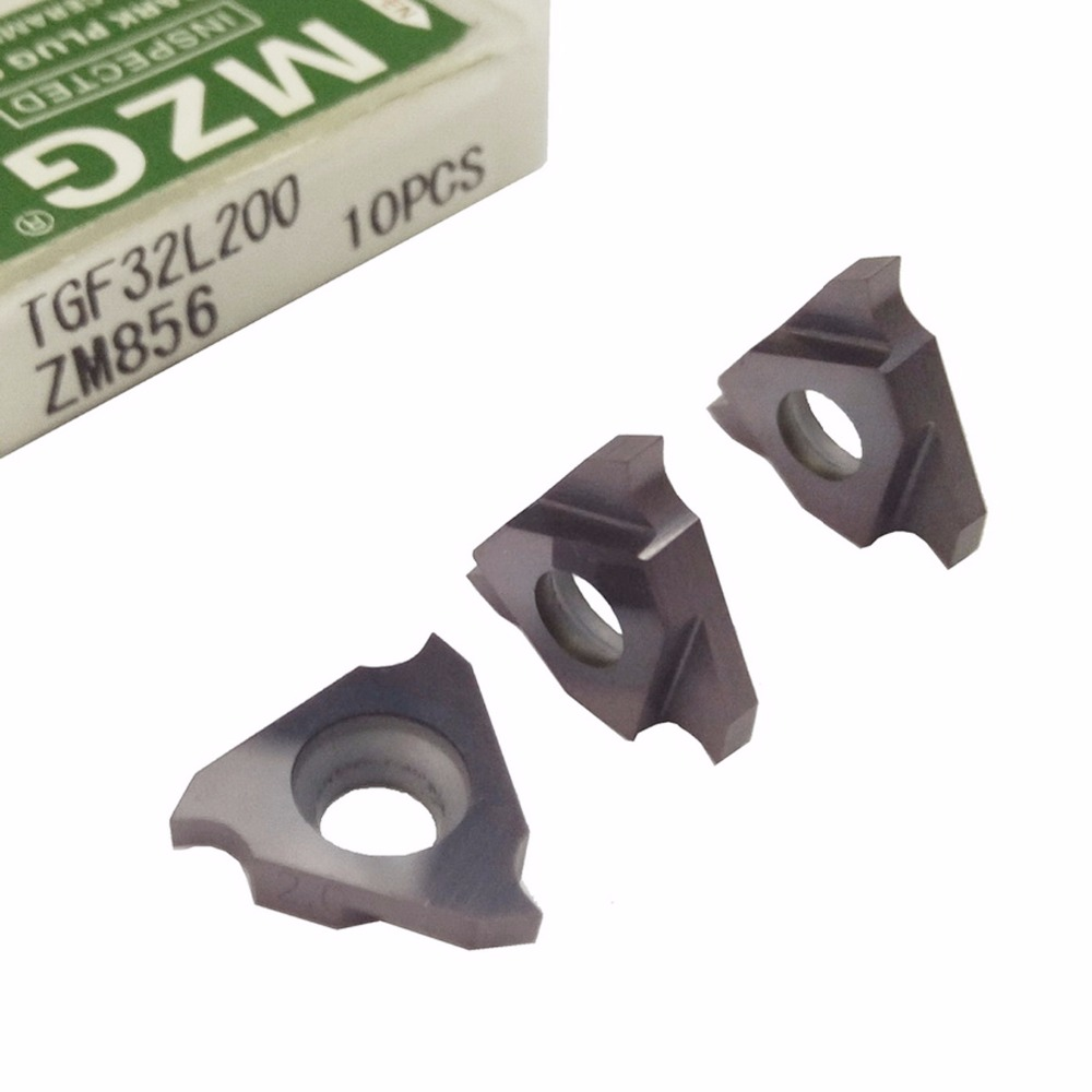 MZG Triangle TGF32L050 TGF32L075 ZM856 Stainless Steel Shallow Grooving Cutter CNC Lathe Cutting Tools Solid Carbide