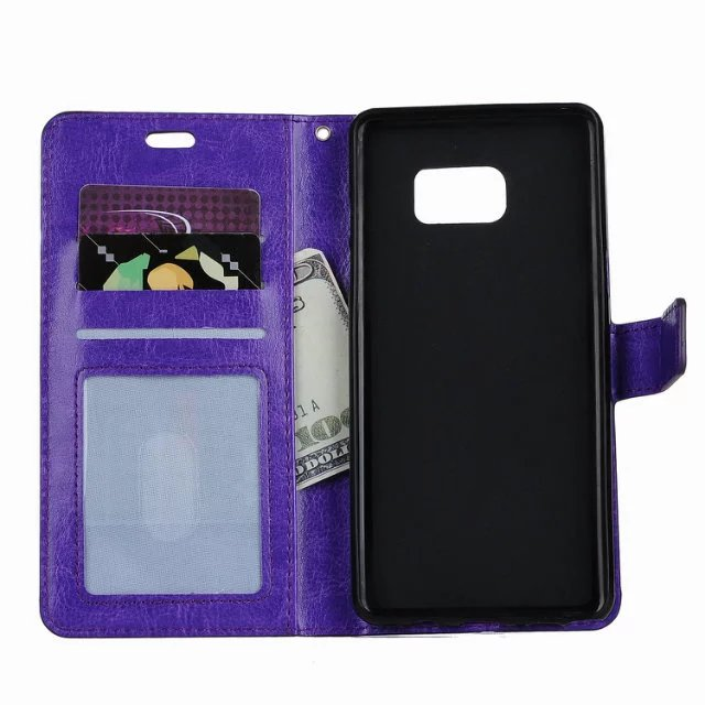 50pcslot free shipping Soft TPU + PU Leather Crazy Horse Wallet Case for Samsung Galaxy note 8