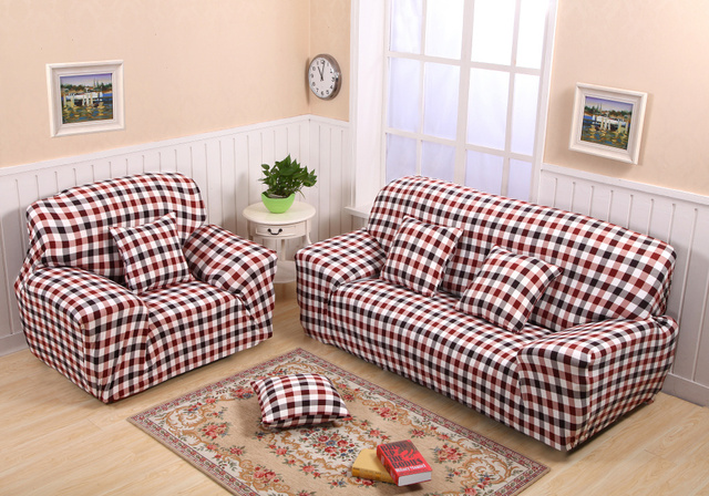 1 2 3 4 Seater Stretch Sofa Cover Shabby Couch Slipcover Protector Elastic