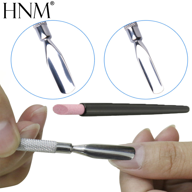 HNM 2pcs Nail Art Manicure Tool Black Quartz Scrubs Stone Cuticle Pusher Stick Nail Care Cuticle Remover Pusher Pen Cuticle Tool