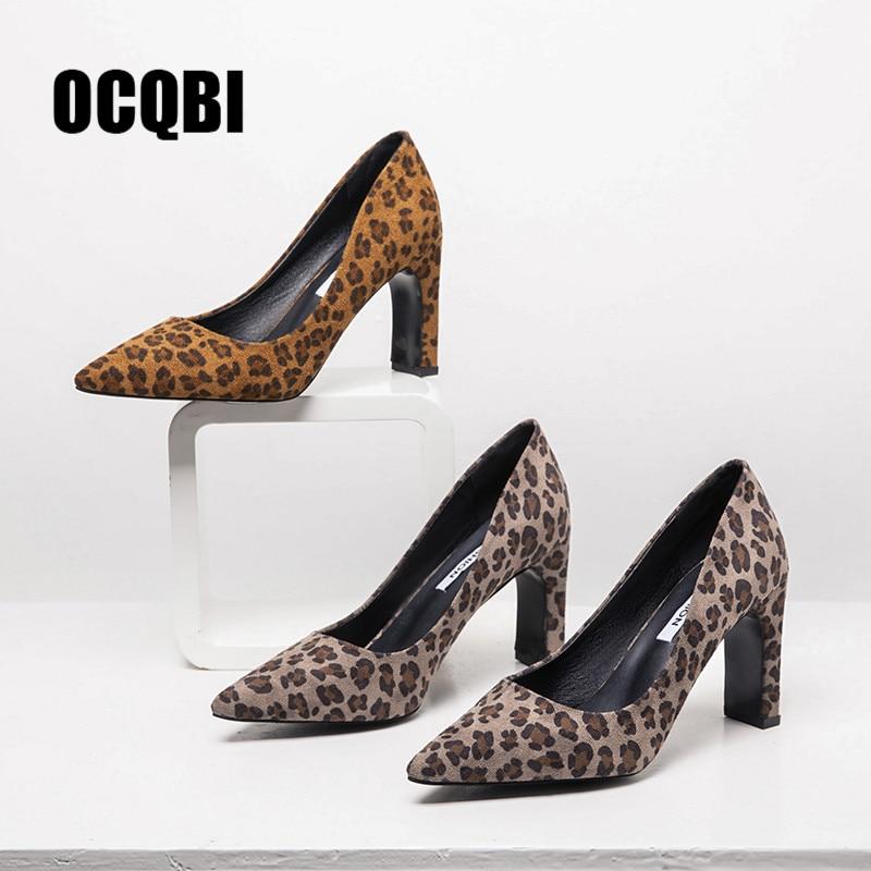 Leopardo Tacón Rebaño 43 Plus Schoenen Zapatos Otoño Khaki Mujeres 2018 8 Tamaño De Del Boda Clásica Tacones yellow Altura Fiesta 41 Cm La Sexy 42 Las Mujer SqtxwXI