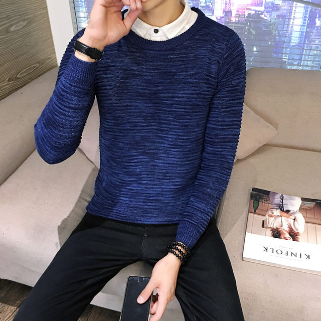 Men Sweater 2016 New Arrival Casual Solid O-Neck Basic Sweater Male Winter&Autumn Easy Match Sweaters M-5XL hot sale