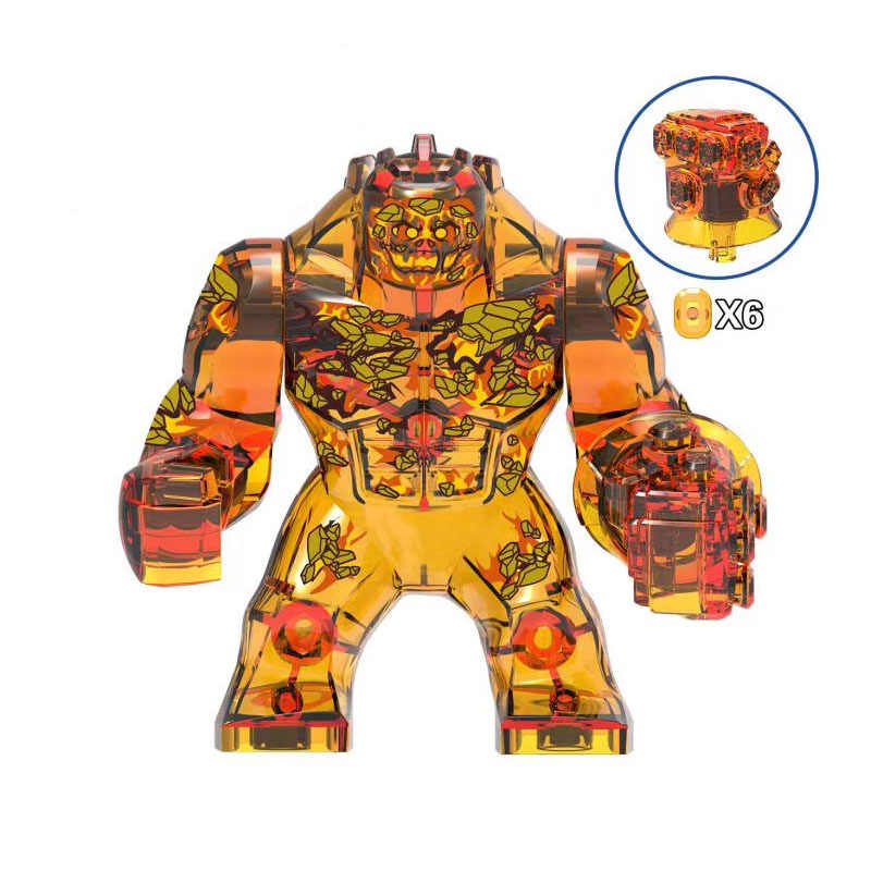 Single Sale Super Heroes Movie Spider-Man:Far From Home character Fire element Figures Building Blocks Bricks Toys Gifts