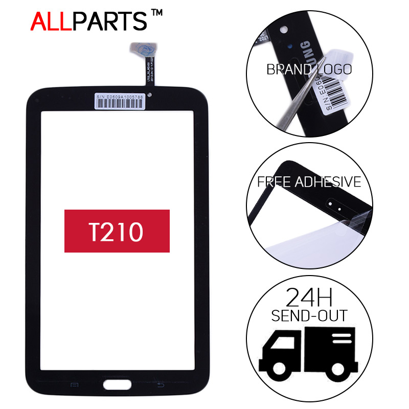 TESTED Original Touchscreen Sensor For SAMSUNG Galaxy Tab 3 7.0 SM-T210 T210 TouchScreen Digitizer OEM Glass Panel Free Adhesive