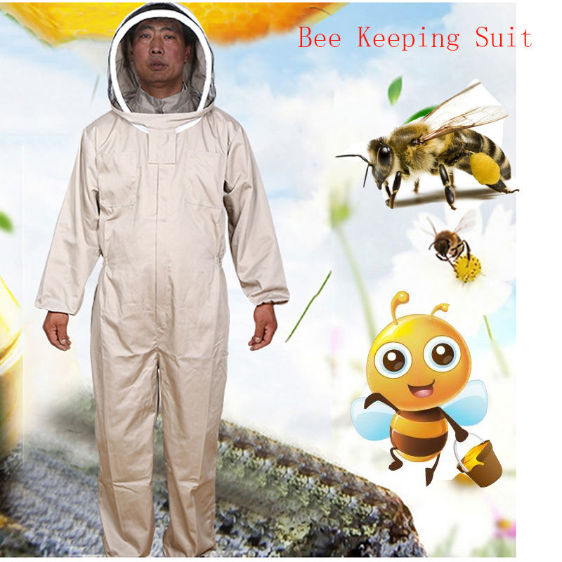 Beekeeping Jacket Veil Set Camouflage Anti-bee Protective Safety Clothing Smock Equipment Supplies Bee Keeping Suit Jacket+Pant 6 frames reversible honey extractor for bee keeping