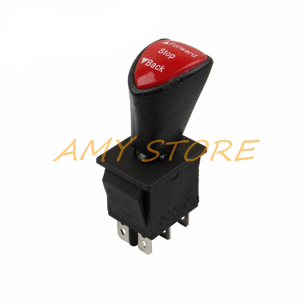 Forward-Stop-Back DPDT 6Pin Latching Slide Rocker Switch AC 250V 16A AC 125V 20A Black KCD4-604-6P 31x25mm Remote
