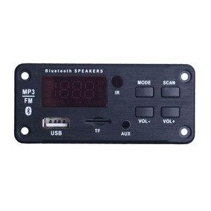 Image 2 - Newest Wireless Bluetooth MP3 WMA Decoder Board Audio Module Support USB TF AUX FM Audio Radio Module For Car accessories