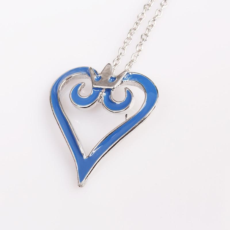 Kingdom Hearts Charm Bracelet: Fashion Jewelry Kingdom Hearts Crown Logo Necklace Pendant