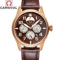 Водонепроницаемый световой Для мужчин смотреть новый Элитный бренд Модные Watch automatic Деловые часы Календари кожа Сталь часы Relogio