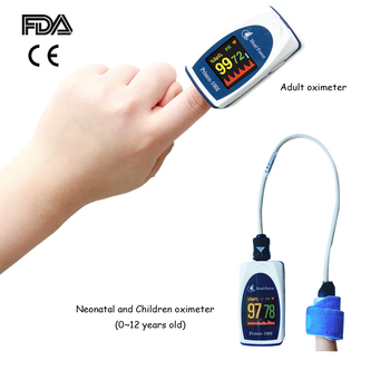 FDA CE Neonatal Child Adult finger Pulse Oximeter SPO2 PR PI Mointor with Probe Baby OLED Blood oxygen Meter 0~12 years children