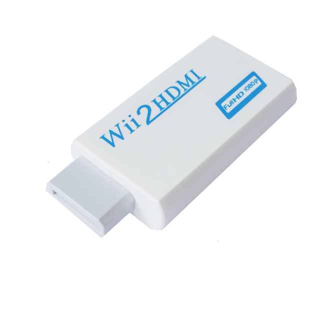 BrankBass White for Wii to HDMI Wii2HDMI Adapter Converter 480P Output Upscaling + 3.5mm Audio Box