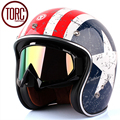 Authentic American TORC helmet half-face Harley with built-in small captain T57 lens helmet frosted restoring ancient
