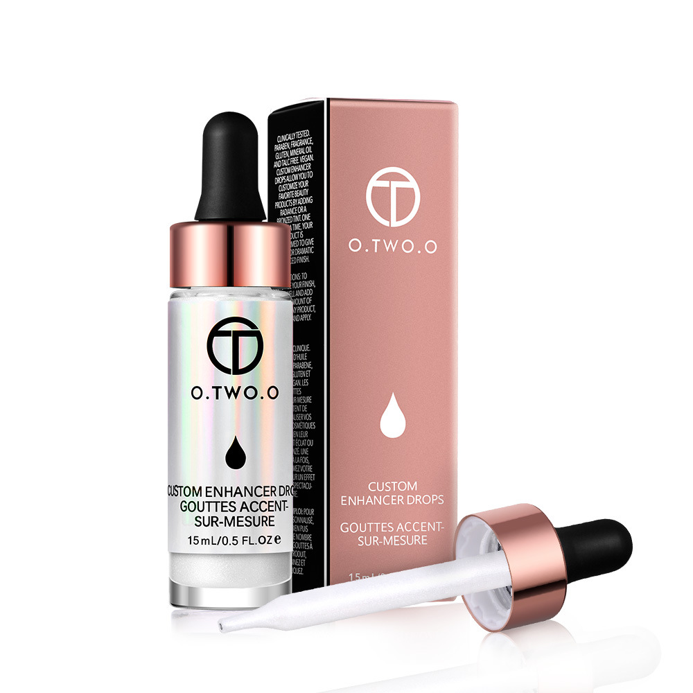 O.TWO.O Liquid Highlighter Cream Highlighter make up Concealer Shimmer Face Glow Ultra-concentrated illuminating bronzing drops make up forever lift concealer