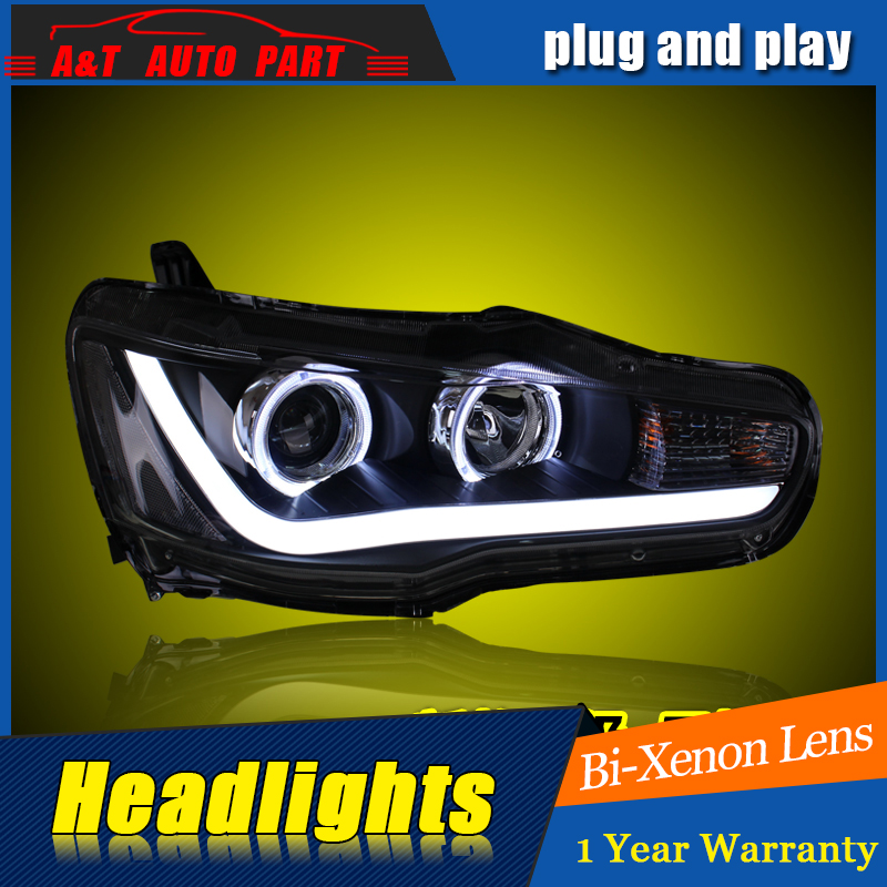 Car Styling For Mitsubishi LANCER headlights For LANCER-EX LED head lamp Angel eye front light Bi-Xenon Lens xenon HID car styling for chevrolet trax led headlights for trax head lamp angel eye led front light bi xenon lens xenon hid kit