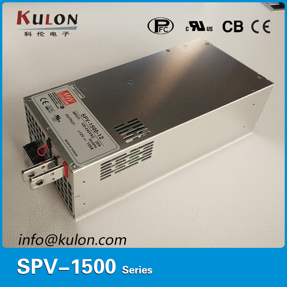 Meanwell SPV-1500-12 1500W 125A 12V Power Supply with PFC function output voltage programmable