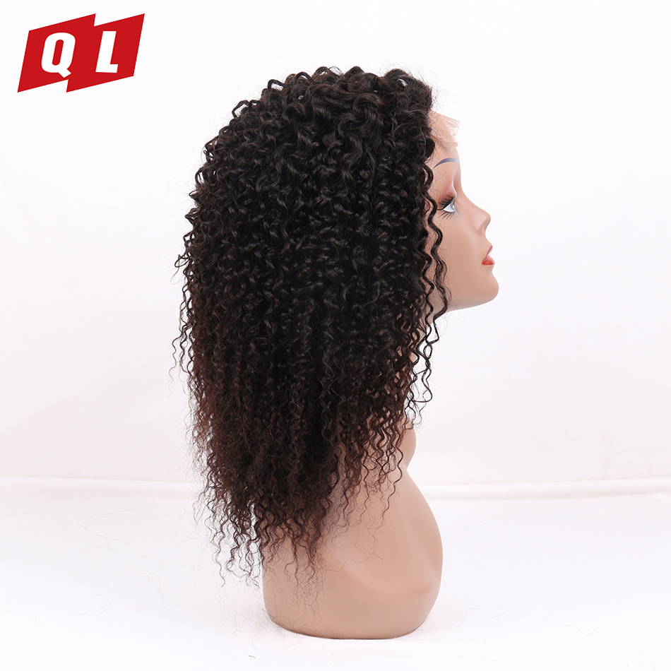 QLOVE HAIR 4 4 Peruvian Kinky Curly Lace Frontal Wigs Pre Plucked 100 Human Hair Wigs