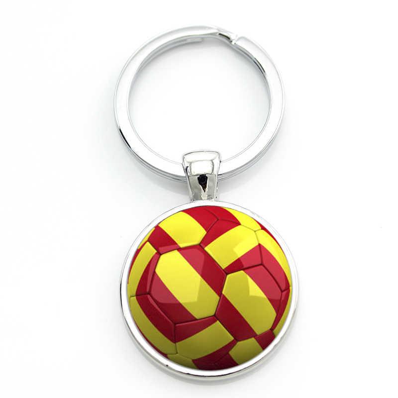 LLavero de fútbol TAFREE Love de marca de alta calidad joyería hecha a mano hombres mujeres fútbol jugador pelota fans llavero anillo soporte SP726