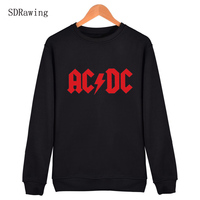 AC DC Bell Skull Mens Brand Streetwear Brand Full Sleeve Hoodies Shirts Chain Acdc Harajuku Casual