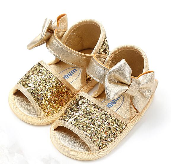 Baby Girls First Walkers Soft Sole PU Leather Bebe Crib Bow Shoes 0-18 Months Moccasins Baby Shoes 3 Color