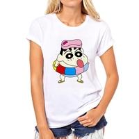 Vui Crayon Shin Chan ngắn tay áo T-Shirt Thời Trang nam/người phụ nữ Bình Thường Trắng t cửa hàng Nhà Máy áo có thể được tùy chỉnh 47N-8 #