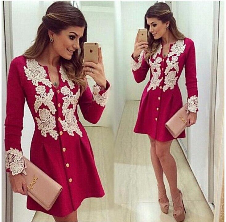 Женское платье 2016 sleve v