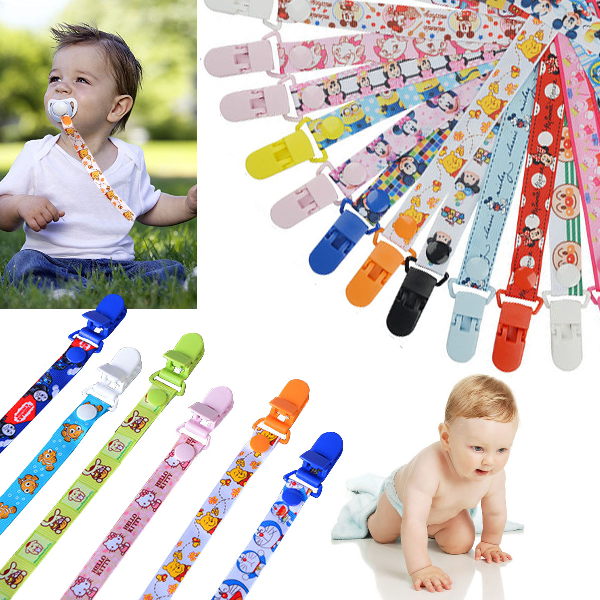 Cartoon Baby Pacifier Clips Pacifier Chain Ribbon Holder Dummy Clip Nipple Holder For Nipples Children Pacifier Clip I0002Cartoon Baby Pacifier Clips Pacifier Chain Ribbon Holder Dummy Clip Nipple Holder For Nipples Children Pacifier Clip I0002