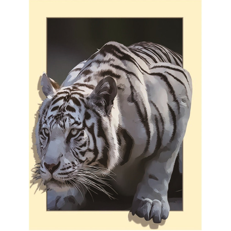 Arts,crafts & Sewing 5d Diy Diamond Painting Cross Stitch Diamond Gift Animal White Tiger Diy Diamond Embroidery Home Decor Arts And Crafts Home & Garden