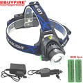 T6 Zoom Led Headlight 18650 waterproof Headlamp  XM-L T6 lights rechargeable Head lamp light 18650 battery AC car Charger