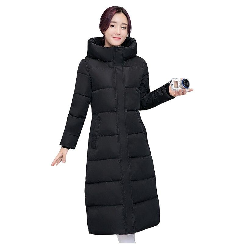 Winter Jacket Women 2017 New Europe Style Hooded Slim Medium Long Winter Plus Size Parkas Lady Top Coat Hot JF006 стоимость