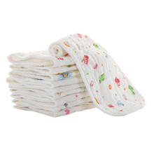 100 Muslin Cotton Seersckuer 6 Layers Burp Cloths 15x45cm Soft Handkerchief For Infant Children Feeding Bathing