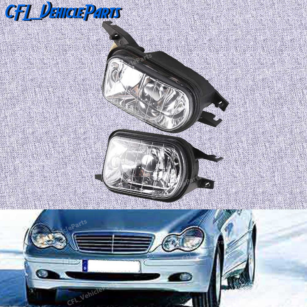 Left Or Right Bumper Fog Light Lamp Foglight No Bulb 2038201856 2038201756 For <font><b>Mercedes</b></font> <font><b>Benz</b></font> W203 C-Class C320 C240 <font><b>C230</b></font> image